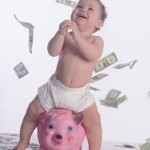 baby with money
