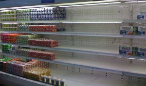 Grocery store shortage